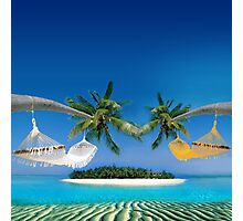 Beach hammocks  Photographic Print