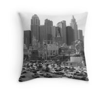 New York New York in Vegas Throw Pillow