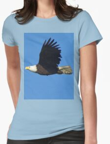 Eagle Fly By Womens Fitted T-Shirt