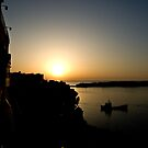 Sunrise and Boat by Alice Oates