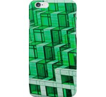 Abstract Architecture in Green iPhone Case/Skin