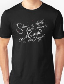 Magic in the night - white text Unisex T-Shirt