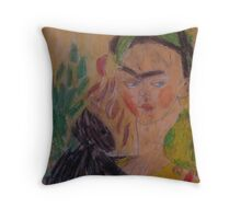 Frida Khalo by Kaser Throw Pillow