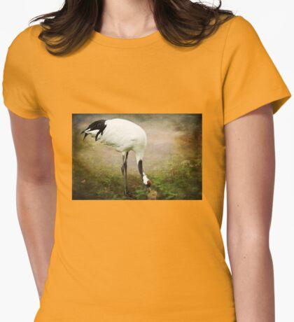 Manchurian Crane Womens Fitted T-Shirt