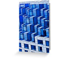 Abstract Architecture in Blue Greeting Card