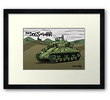 Dogs of War: Sherman Tank Framed Print