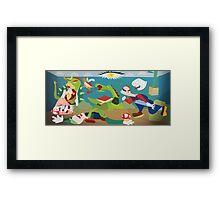 War of Mushroom Kingdom Framed Print