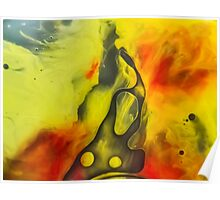 Abstraction watercolor painting - yellow river Poster