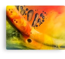 Abstraction watercolor painting - orange Canvas Print