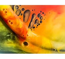 Abstraction watercolor painting - orange Photographic Print