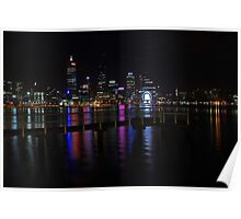 Perth City At Night  Poster