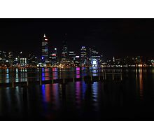 Perth City At Night  Photographic Print