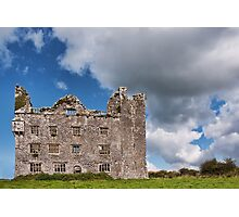 This is Leamanagh Castle between Corofin and Kilfenora , County Clare, Ireland. Photographic Print
