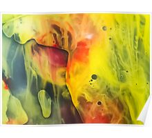 Abstraction watercolor painting - cave Poster