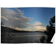Payette Lake and Jughandle Mountain after the storm Poster