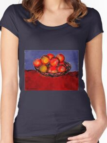 Oranges in Bowl Women's Fitted Scoop T-Shirt