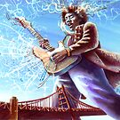 Jimi at the Bridge by kenmeyerjr