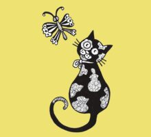 Pusskins Flutterby Tee by Anita Inverarity