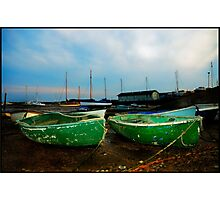 Green Boats Photographic Print
