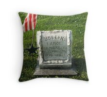 He lived too tell his war stories Throw Pillow