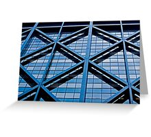 Urban Lines on a Building in San Francisco Greeting Card