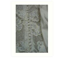 Bridal Buttons Art Print