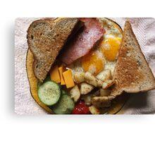 Sunday Morning Ham and Eggs 2 Canvas Print