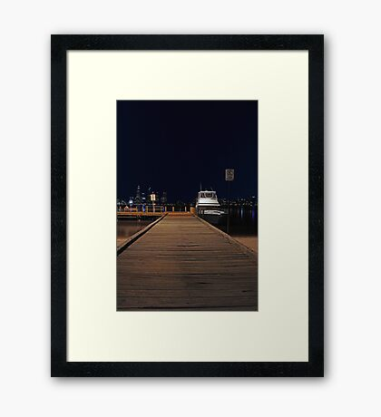Coode St Jetty - Perth Western Australia  Framed Print
