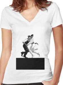 Clay and Lisette Dancing Women's Fitted V-Neck T-Shirt