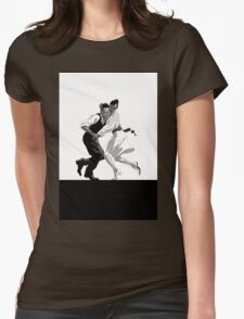 Clay and Lisette Dancing Womens Fitted T-Shirt