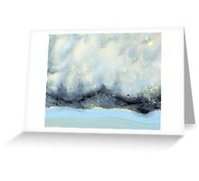 Cloudy Stars On Silver Mountain Greeting Card