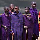 MASAI MEN - KENYA by Michael Sheridan