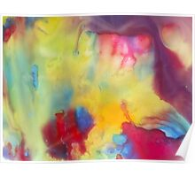 watercolor abstraction painting - colored 1 Poster