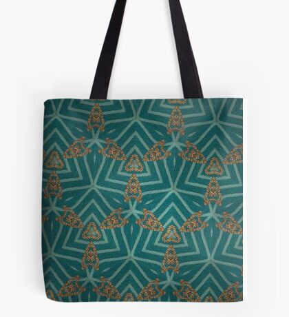 Gold Embroidered Winter Motif Tote Bag