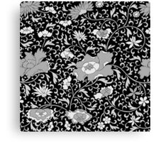 Modern abstract black and white floral pattern Canvas Print