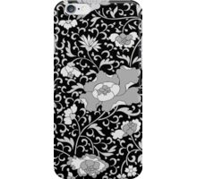 Modern abstract black and white floral pattern iPhone Case/Skin