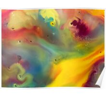 watercolor abstraction painting - colored 2 Poster
