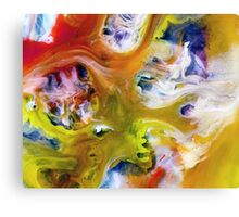 watercolor abstraction painting - tropical island Canvas Print