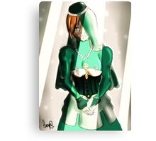 Green bride Canvas Print