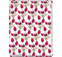 Colorful pink purple daffodils floral pattern  iPad Case/Skin