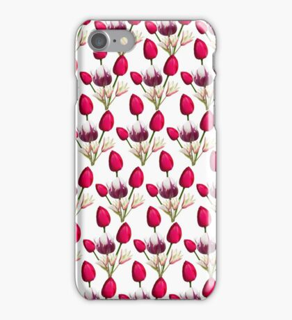 Colorful pink purple daffodils floral pattern  iPhone Case/Skin