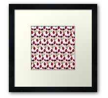 Colorful pink purple daffodils floral pattern  Framed Print