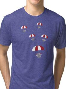 Parachuting Robots Tri-blend T-Shirt