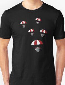 Parachuting Robots Unisex T-Shirt