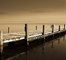 Golden Pier at Glovers Reef  by Karel Kuran