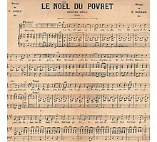 Vintage french classical music sheet paper  Photographic Print