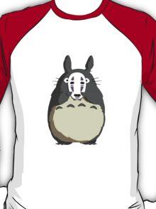 Totoro x No Face - My Neighbor Totoro x Spirited Away T-Shirt