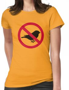 No birds Womens Fitted T-Shirt