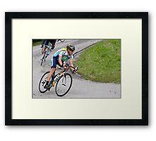 LANCE ARMSTRONG Framed Print