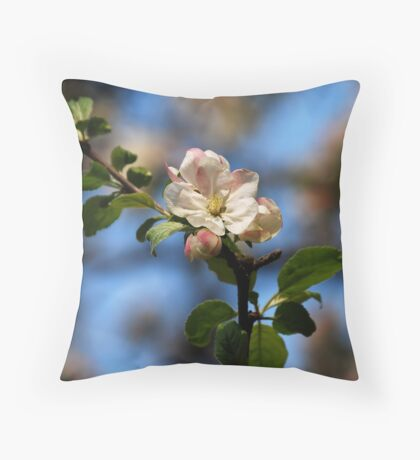 Apple Tree Blossom Throw Pillow